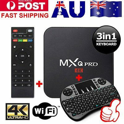 AU MXQ PRO 4K TV BOX Android 7.1 Quad Core KD 17.4 Smart Media Player 1GB+8GB