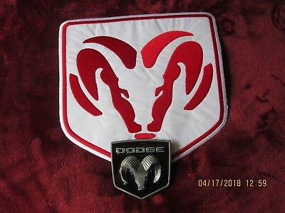 DODGE large back patch and Belt Buckle