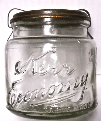 Kerr Economy Trade Mark Pt Fruit Jar, Sand Springs, Okla., June 3, 1903