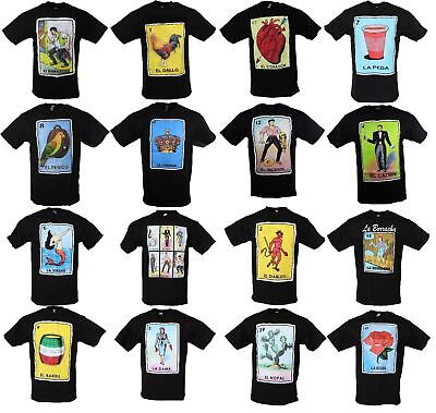 el borracho loteria mexican bingo t shirt novelty funny black cotton