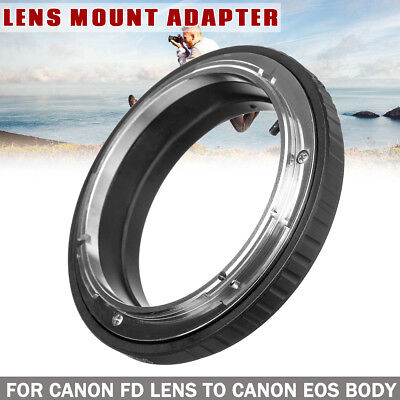 Metal Camera FD-EOS Mount Adapter Ring No Glass For Canon FD Lens To EOS EF Body