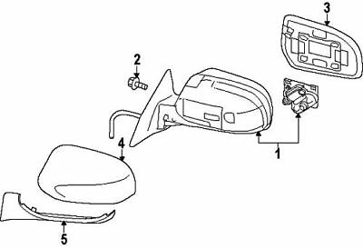 SUBARU OEM 12-14 Legacy Outside Mirrors-Front Door-Outer Cover Right 91059AJ00B