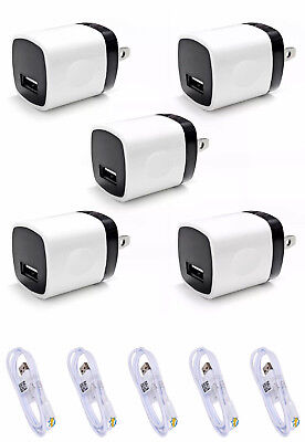 5X Wall Charger + 3FT 8 PIN USB SYNC Data Cable Cord for iPhone 7 5C 5S 6 6Plus