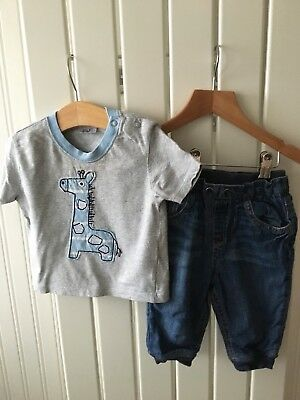 Baby Boy S Clothes 6 9 Months 2pc Outfit Animal Theme Top