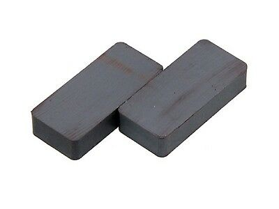 CT4682 2PC Ceramic Block STRONG Rectangle Magnets - 22 x 47mm / 10mm Deep