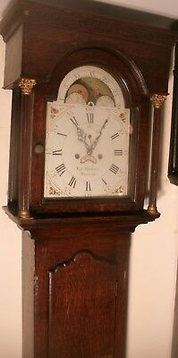 "Antique Oak Moon Phase "" Watford""  Longcase / Grandfather Clock"