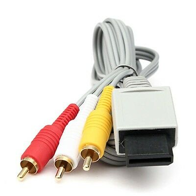 UK Audio Video AV Composite 3 RCA Cable TV Cord Lead Wire For Nintendo Wii Game