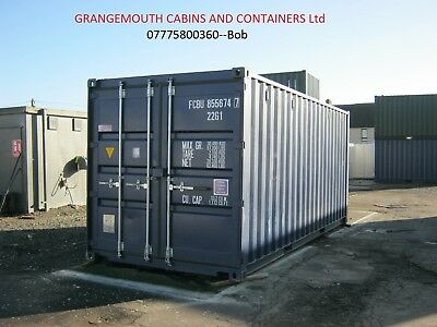 20ft One Trip 2018 Shipping Container's FOR SALE site store steel security shed