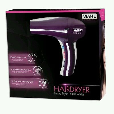 Wahl ZX908 2000W Professional Ionic Style Hair Dryer - Purple