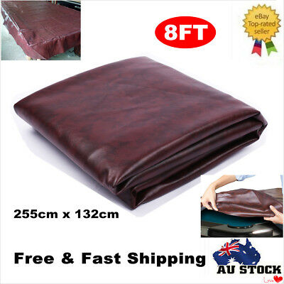 8FT Heavy Duty Fitted Leatherette Billiard Pool Table Cover 255x132cm Waterproof
