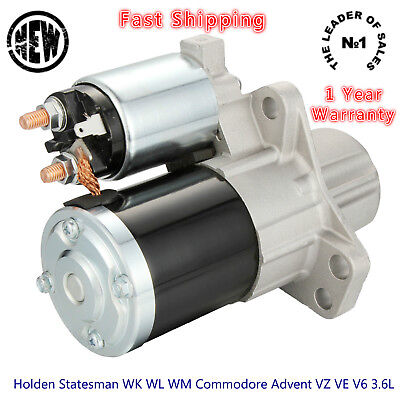 Starter Motor Holden Statesman WK WL WM Commodore Advent VZ VE V6 3.6L Petrol
