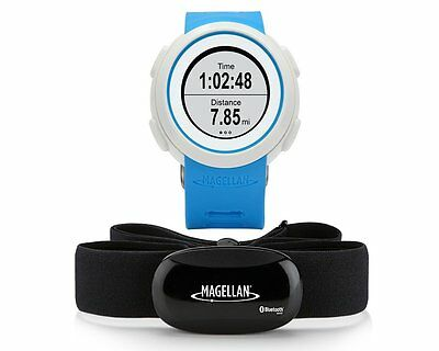Magellan Echo HRM Smart Sports Fitness Bluetooth Running Watch iOS, Android Blue