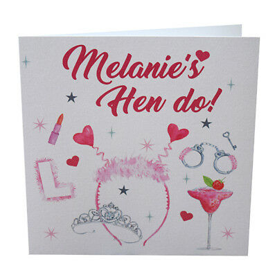 Personalised Hen Party Card Night Bride To Be Tails Do