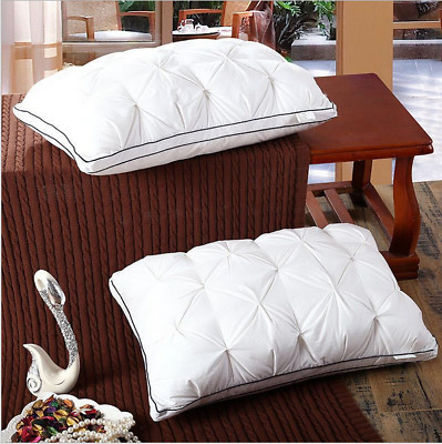 Luxury 5 Star Hotel Top-Grade Pillow Ultra soft Feather Velvet Pillow Core White