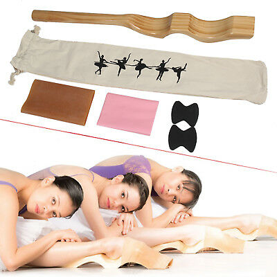 Wooden Ballet Foot Stretch Stretcher Arch Enhancer Elastic Band Dance Gym Gifts