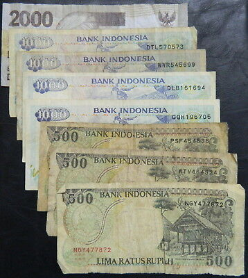 Bulk Lot of Various Indonesia Indonesian Rupiah x8 Varying Grades