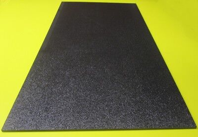"Black ABS Sheet 3/16"" (.187"") X 12"" X 24"" Haircell Textured One Side"