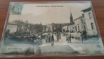 rare cpa cartes postales 55 rouvres belle animation