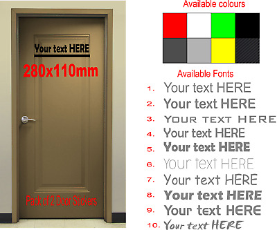 2x Custom Door Name Workshop Office Promotion Sticker Pack of 2 Adhesive Sticker