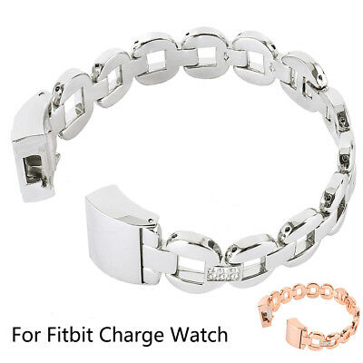 Fitbit Charge 2 Armband Edelstahl Replacement Wrist Strap Watchband Magnet@
