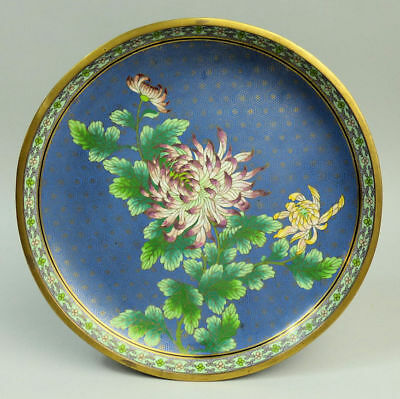 Antique Chinese Finely Decorated Cloisonne Shallow Dish C.1880