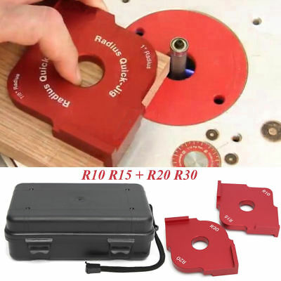 Ujk technology 10mm aluminium router table insert cw universal base pro router jig table bit corner wood panel radius r20 r30 r10 r15 template new keyboard keysfo Images