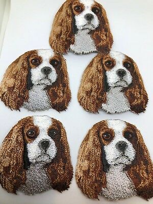Cavalier King charles embroidery patch