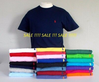 BNWT men's Ralph Lauren Cotton Short Sleeve Polo T-shirts. All Size:S/M/L/XL/XXL