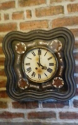 Beautiful Mother Of Pearl French Napoleon 111 Antique Oiel De Boeuf Wallclock