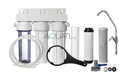Premium Home Under Sink Water Purifier and Softener Filter Kit– Salt Free Aquati