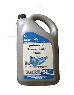 ATF DEXRON VI Fully Synthetic Transmission Fluid - 5 Litres - Made in UK