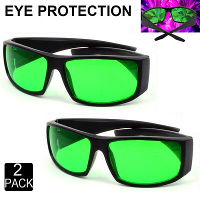 2 X LED Grow Light Glasses Visual Eye Protection Indoor Room Growing Plants UV