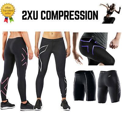 2XU LONG Compression Tights Pants Womens Ladies Fitness Sport Run Gym Trousers