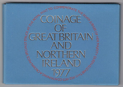 THE COINAGE OF GREAT BRITAIN & NORTHERN IRELAND 1977 Complete Set