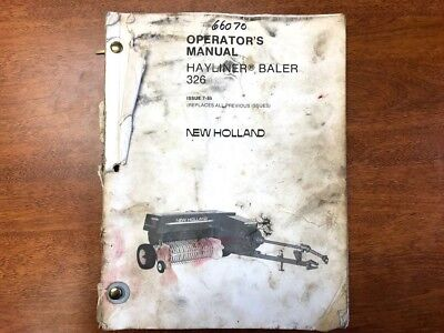 new holland super hayliner 68 baler owner s manual 22 59 picclick rh picclick com New Holland 560 Round Baler Hay Baler