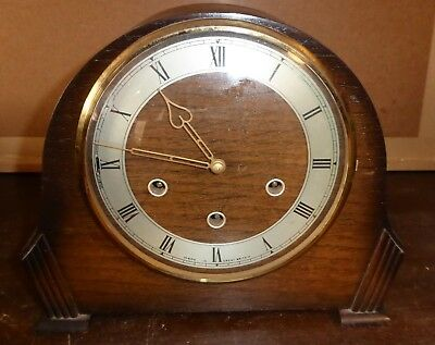 Vintage Smiths wooden Westminster Chime mantel clock SPARES/REPAIRS