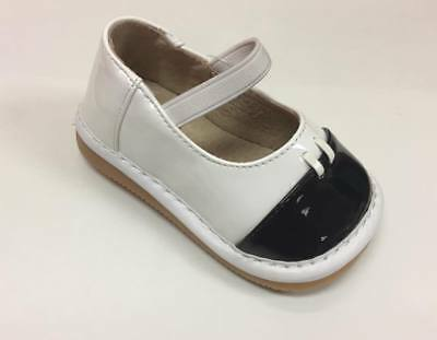 Discontinued Toddler Girl's Black & White Paten Squeaky Shoes Now $4.99