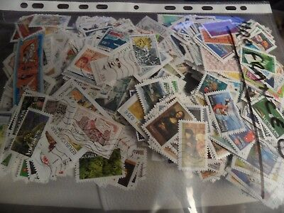 Lot de 1200 timbres différents grand format de France