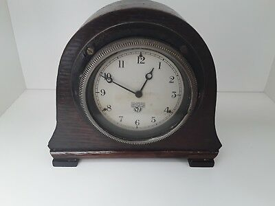 Fully working  Smiths  art deco mantel clock, rare pattern no. 349384