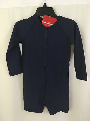 Hanna Andersson Baby Rash Guard Suit Swimmy Navy Size 90 3 NWT
