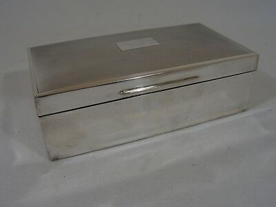 Vintage Art Deco 1920 Solid Silver Cigarette Box E.n.speak