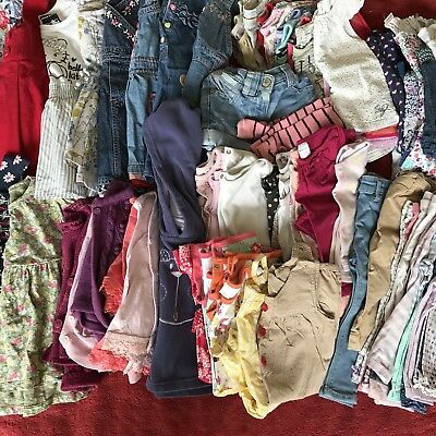 Huge Baby girls clothes bundle 9-12 months 71 Items