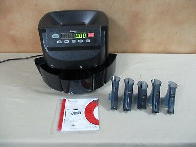Cassida C200 Digital Coin Counter Sorter Wrapper Sorts Coins Counts Digital
