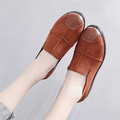 53d653707ea WOMEN S SUEDE LEATHER Loafers Lazy Peas Shoes Flat Casual Driving Moccasins  Tide -  21.18
