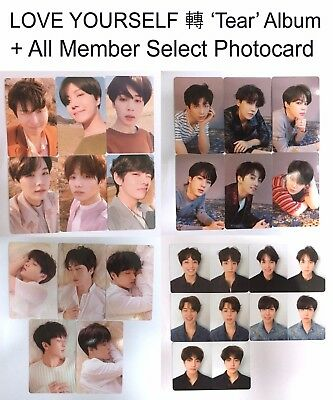 """"""" PHOTOCARD ONLY """"  BTS - LOVE YOURSELF 轉 'TEAR' Y/O/U/R Ver.  All Member Select"""