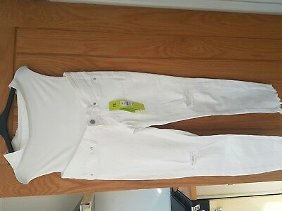 Bloomin Marvellous Mothercare over Bump White Maternity Skinny Jeans 12R