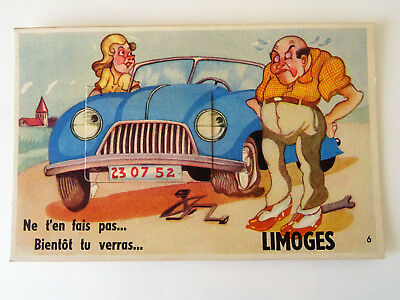 Cpa Limoges Carte A Systeme.