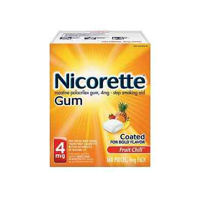 Nicorette Gum 4 mg Fruit Chill -Stop Smoking 160 pieces NEW STOCK! Free S/H
