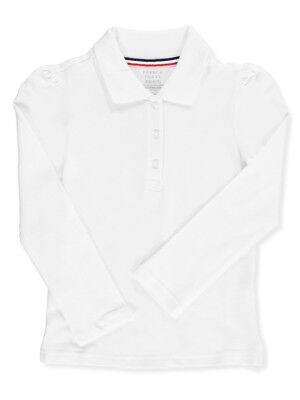 French Toast Little Girls' L/S Stretch Pique Polo Shirt (Sizes 4 - 6X)