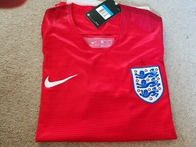England 2018 World Cup Away top Shirt Russia small medium large extra double red